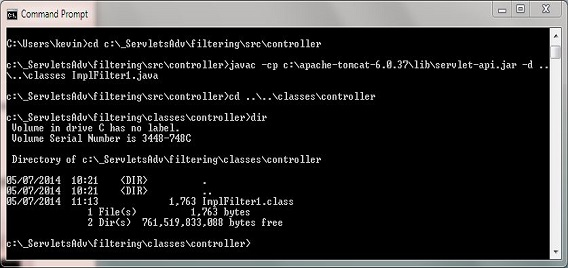 compile ImplFilter1 class