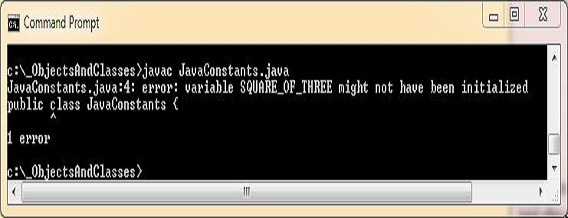 run java constants