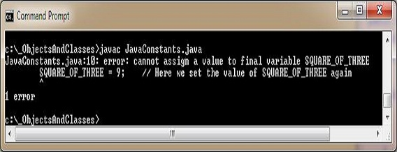 run java constants2