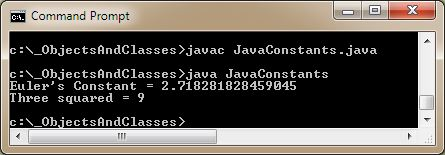run java constants3