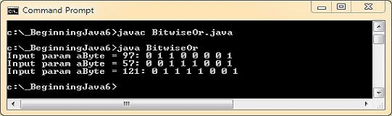 run bitwise or