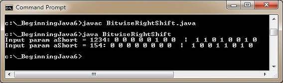 run bitwise right shift